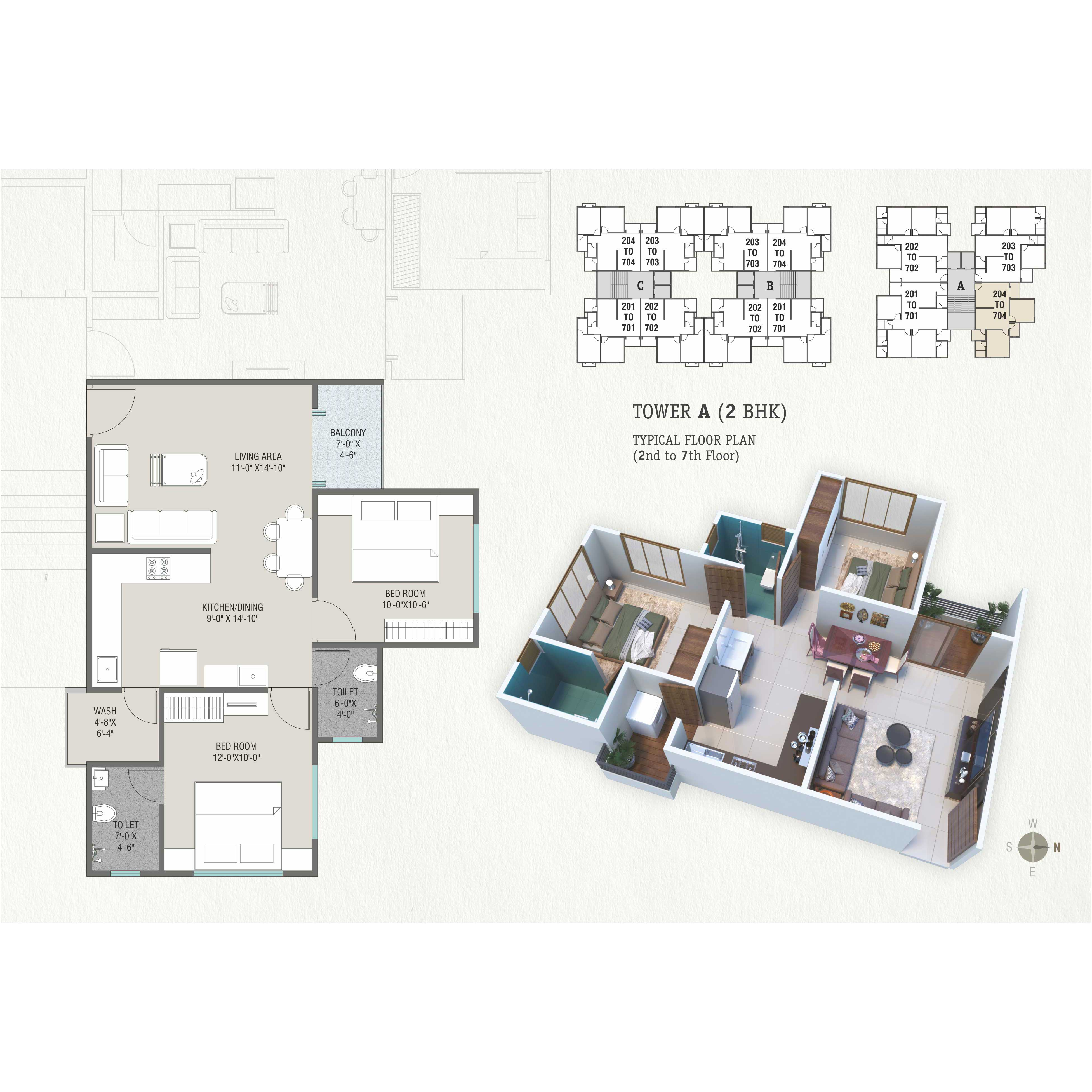 Tower-A-(2-BHK)