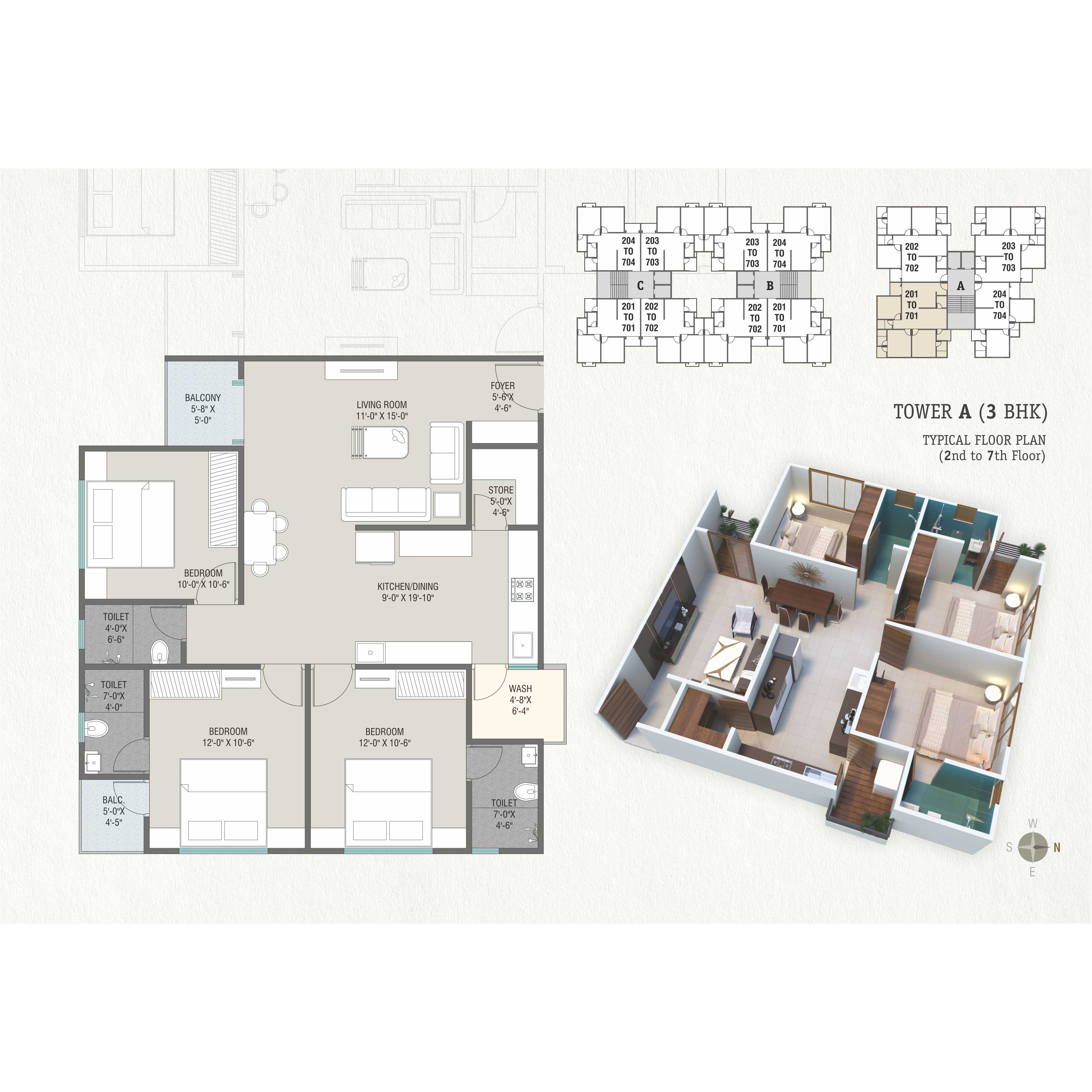 Tower-A-(3-BHK)